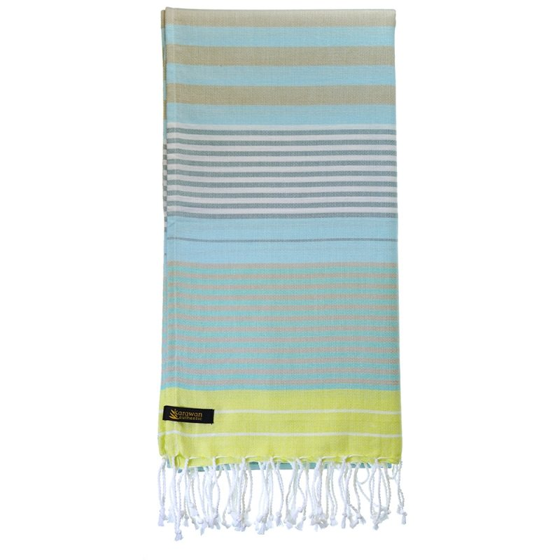 Fouta / Hammamtuch . Biobaumwolle . Sunny Lime from Nice to meet me