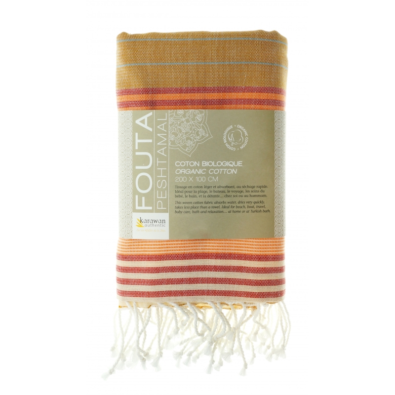 Fouta / Hammamtuch . Biobaumwolle . India Gold from Nice to meet me