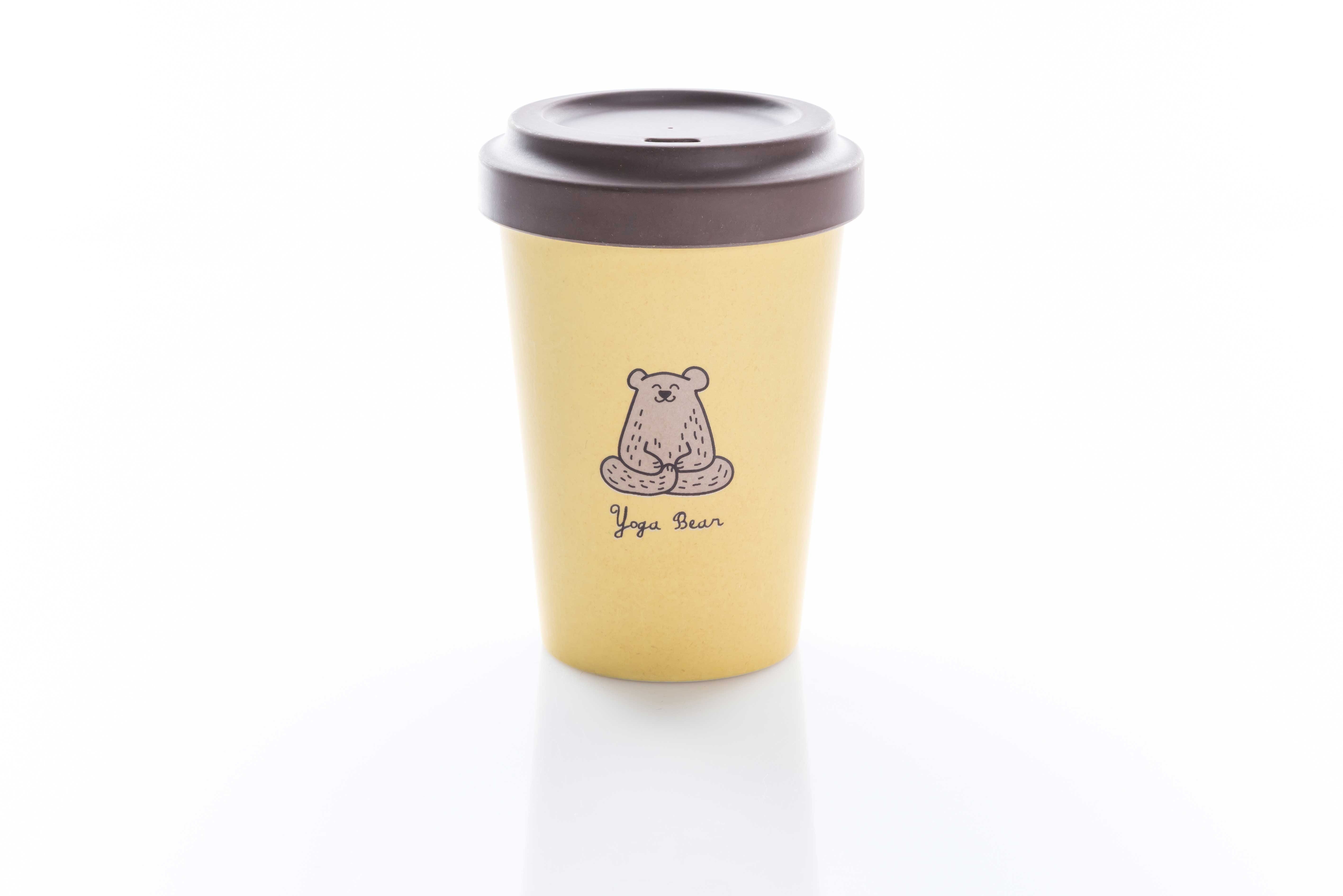Bamboo Cup . Yoga Bear from Nice to meet me