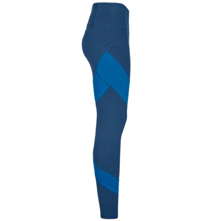 Energy Legging Biobaumwolle . Color Block Blue