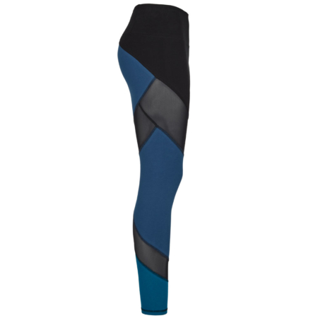 Energy Legging Biobaumwolle . Color Block Mesh