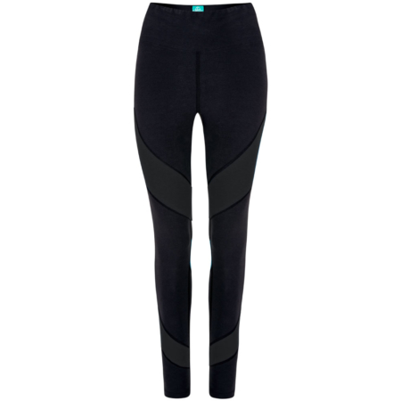Energy Legging Biobaumwolle . Color Block Black